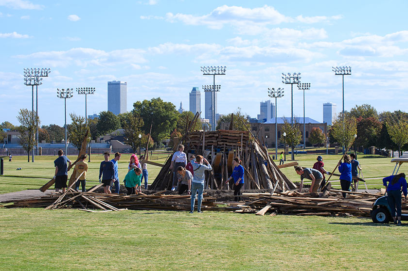 Building the bonfire