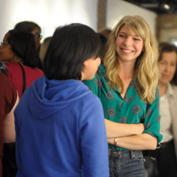 students talking during a women and gender studies activity