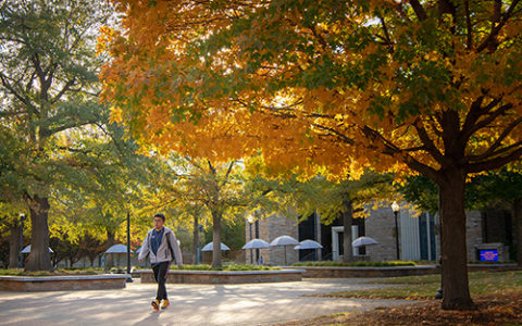 The University of Tulsa campus in autumn